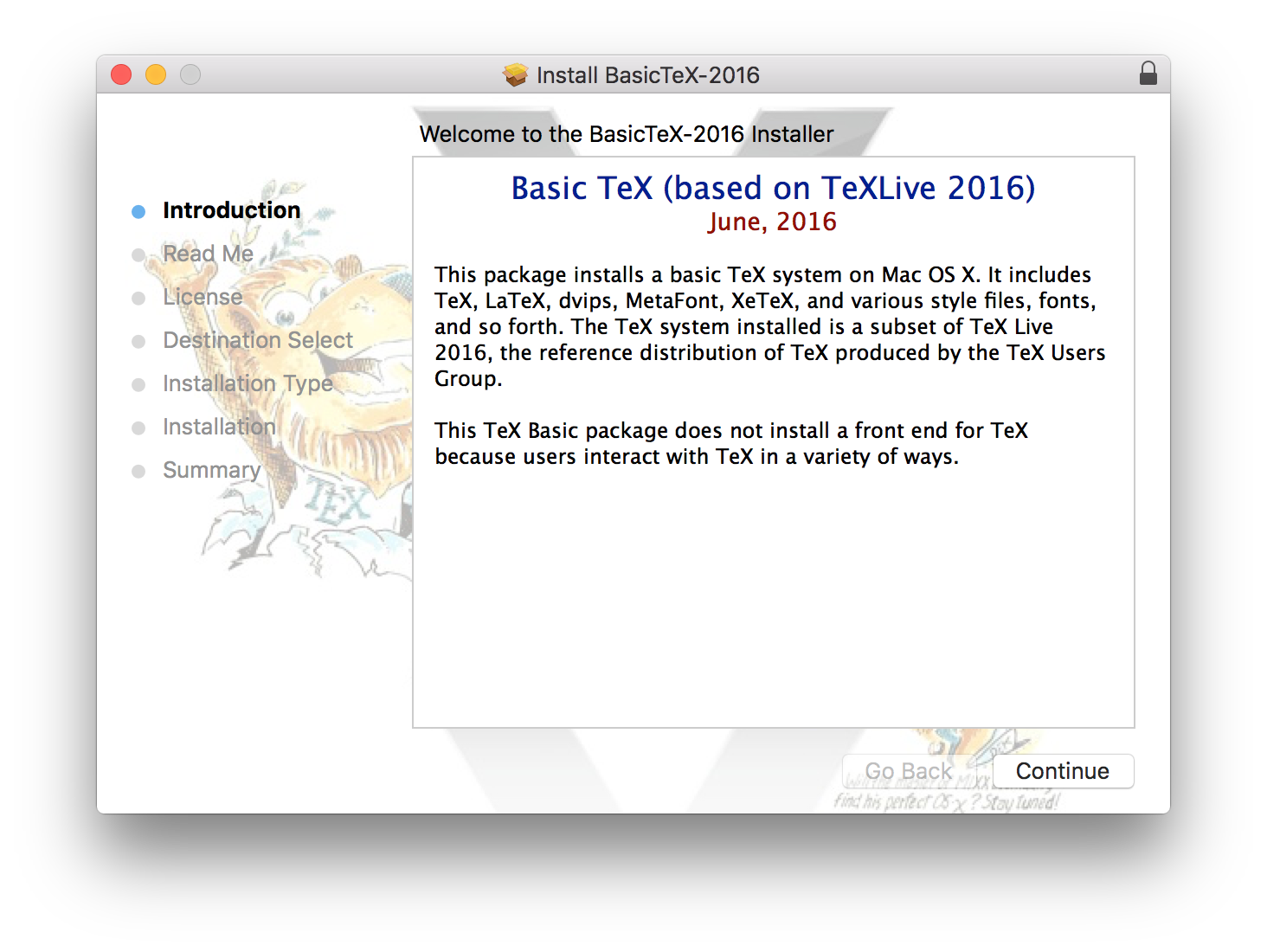 Texts | Install XeLaTeX on Mac OS X